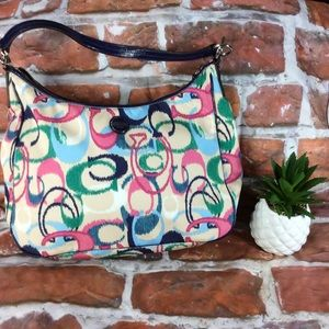 Coach Multicolored Shoulder Hobo Purse
